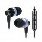 AWEI S90vi Super Bass In-ear Style Earphone w/ Microphone / Volume Control - Light Purple + Black
