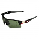 LAMBDA LS168 Outdoor Cycling UV Protection Sunglasses w/ Replacement Lens - Black + Red
