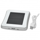 Window Mounted Solar Energy Powered Rechargeable 1800mAh Li-ion Power Bank for Cellphone - Silver