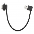 USB 3.0 A-M to Micro USB 3.0 B-Male Right Angle HDD External Enclosure  Data Cable - Black