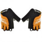 Spakct S13G01 Polyamide + Elastane Half-finger Gloves - Black + Orange (L / Pair)