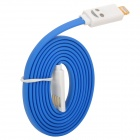 USB to 8-Pin Lightning Data/Charging Cable w/ Smiley Face Light for iPhone 5 / iPad 4 / Mini - Blue