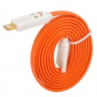 USB to 8-Pin Lightning Data/Charging Cable w/ Smiley Face Light for iPhone 5 / iPad Mini - Orange