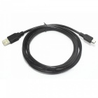 USB 2.0 Male to Mini USB Male Round Connection Cable - Translucent Brown + Black (1.6m)