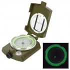 Multifunctional Outdoor Glow-in-the-Dark Aluminum Alloy Analog Compass w/ Ruler - Army Green