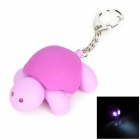 Cute Tortoise Style 2-LED White Flashlight Keychain - Purple (3 x AG10)