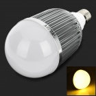 MIN06 E27 15W 900lm 3500K 15-LED Warm White Light Spotlight - Silver + White (AC 85~265V)