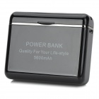 Tragbare 3.7V 5600mAh 8pin Lighting Male Mobile Power Bank - Schwarz