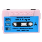 Cassette Shaped Mini Screen Free MP3 Player w/ TF - Pink