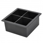 Simple Soft Silicone Square Ice Cube Tray / Jelly / Pudding Mould - Black