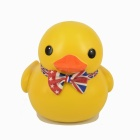 Cute Vinyl Boy Duck Piggy Bank - Yellow