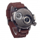 Super Speed V0036  Fashionable Men's Analog Dual-Quartz Wrist Watch - Brown + Black (1 x LR626)