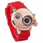 Super Speed V0036  Fashionable Men's Analog Dual-Quartz Wrist Watch - Red + Golden (1 x LR626)