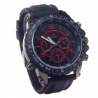 Super speed V6 V0176  Imitation Racer Quartz Wrist Watch for Man - Black + Red (1 x LR626)