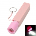External 2600mAh Power Battery Charger w/ USB Flashlight for Iphone 5 / 4S / Samsung i9300 - Pink