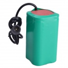 Universal 8800mAh 4.2V Li-ON 18650 Battery Pack for 1200lm~5000lm T6 U2 P7 LED Bike Lamp - Green