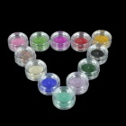 12-in-1 Fashion Plastic Beads Caviar Nails Art - Multi-Colored