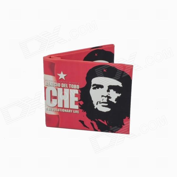 Che Guevara Canvas Fabric Folding Wallet - Red