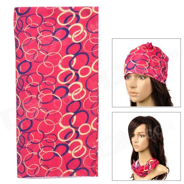6032607 Multifunction Outdoor Sports Bicycle Cycling Polyester Seamless Head Scarf for Women - Red outdoor sports cycling mask bike riding variety turban magic bicycle designal scarf women scarves