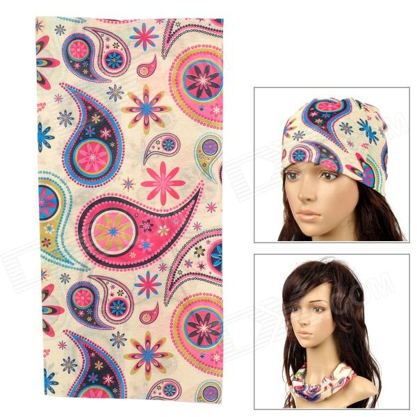 6032414 Multifunction Outdoor Sports Seamless Polyester Head Scarf for Women - Multicolored