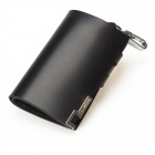 Calmoon 907B Genuine Cow Leather Car Key Holder Case Coins Wallet Purse - Black