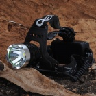 SL-W001 Cree XM-L T6 700lm 3-Mode White Headlamp w / Adjustable Strap - Black (2 x 18650)
