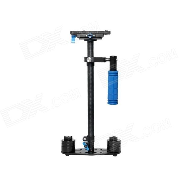S-60Handheld Mini Handheld Stabilizer for Camcorder / DV / Video Camera / DSLR - Black + Blue