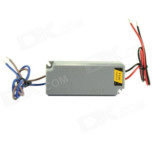Waterproof 1A 24W Constant Voltage Power Source LED Driver - Grey (AC 100~240V) jlnke jkf60 waterproof 2 5a 60w constant voltage power source led driver grey 100 240v