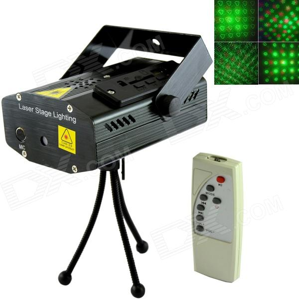 XL-M-069 4-in-1 Stage Lighting Projector MP3 Player Speaker w/ USB / SD / Remote Controller / Tripod