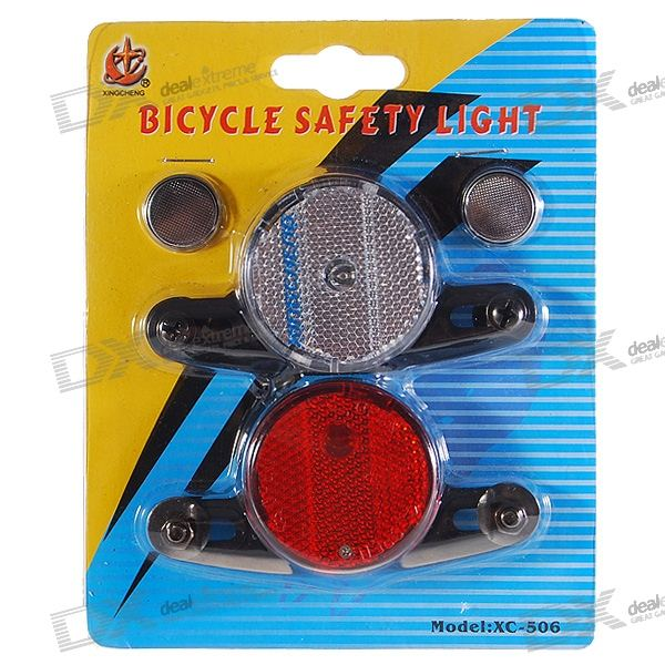 Smart Auto-on Motion Activated Red + Yellow LED Wheel Lights for Bikes (2-Pack)