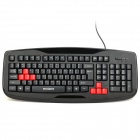 Motospeed K109 Professional PS2 Wired 103-Key Gaming Keyboard - Black