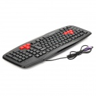 Motospeed K109 Professional PS2 Wired 103-Key Teclado Gaming - Preto
