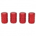 Universal Tubular Shaped Aluminium Alloy Tire Valve Caps - Red (4 PCS)