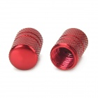 MZ Tubular Shaped Aluminium Alloy Tire Valve Caps - Red (4PCS)