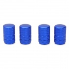 Universal Tubular Shaped Aluminium Alloy Tire Valve Caps - Blue (4 PCS)