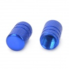 MZ Universal Tubular Shaped Aluminium Alloy Tire Valve Caps - Blue (4 PCS)