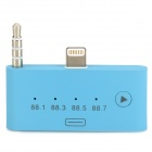 8-Pin Lightning + 3.5mm Plug to 30-Pin Female FM Audio Adapter for iPhone 5 / iPod Touch 5 - Blue
