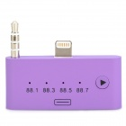8-Pin Lightning + 3.5mm Plug to 30-Pin Female FM Audio Adapter for iPhone 5 / iPod Touch 5 - Purple