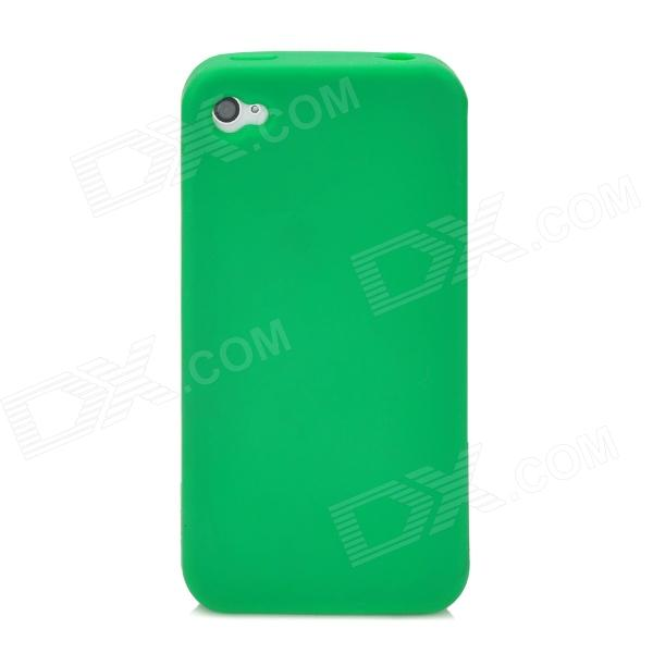 ZZ-I4-02-LVSE Fashionable Protective Flexible Silicone Back Case for Iphone 4S / 4 - Green stylish bubble pattern protective silicone abs back case front frame case for iphone 4 4s