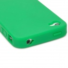 ZZ-I4-02-LVSE Fashionable Protective Flexible Silicone Back Case for Iphone 4S / 4 - Green