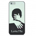 Relief Kissing Couple Style Glow-in-the-Dark Protective Plastic Back Case for Iphone 5 - Black