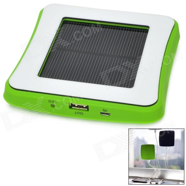 Window Mounted Solar Energy Powered Rechargeable 1800mAh Li-ion Power Bank for Cellphone - Green 1800mah portable solar power solar power battery pack for cell phones and usb gadgets