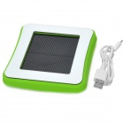Window Mounted Solar Energy Powered Rechargeable 1800mAh Li-ion Power Bank for Cellphone - Green