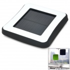 Window Mounted Solar Energy Powered Rechargeable 1800mAh Li-ion Power Bank for Cellphone - Black