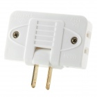 Travel Rotatable 1-to-3 15A 125V Power 2-Flat-Pin Plug Adapter - White + Golden