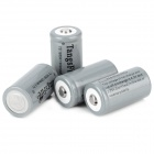 TangsFire 18350 3.7V 1200mAh Rechargeable Li-ion Battery w/ Storage Case - Gray (4 PCS)