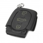 AML030574 Replacement Four-key Remote Control Plastic Case for Audi Car - Black