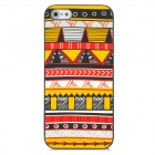 Stylish Protective Plastic Back Case for Iphone 5 - Yellow + Red + Black