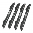 SC 202 Fashionable DIY Scratch Resistant PVC Sticker for Motorcycle - Black + White (4 PCS)