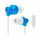 JUNEROSE JR-i710 In-Ear Stereo Earphone w/ Microphone for Iphone / Samsung / HTC - Blue + White